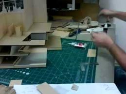 mimari maket yapımı hızlandırılmış video