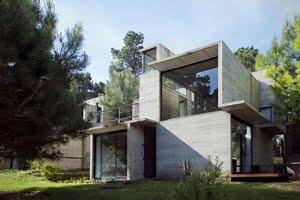 tamamen betondan yapılan ev