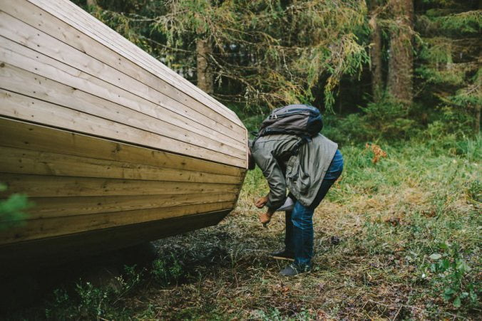 Estonian-students-build-giant-megaphones-in-the-forest-4